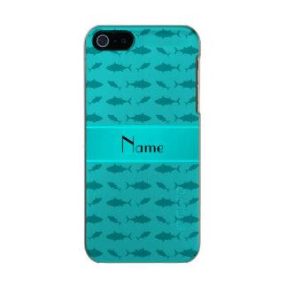 Modelo conocido personalizado del atún de bluefin funda para iPhone 5 incipio feather shine
