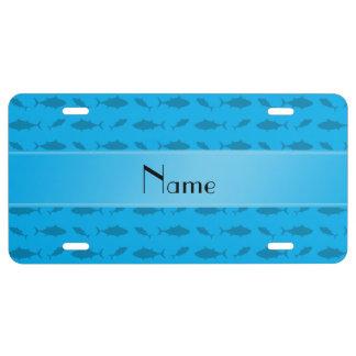 Modelo conocido personalizado del atún de bluefin placa de matrícula