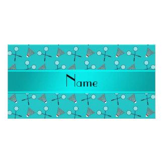 Modelo conocido personalizado del bádminton de la  tarjetas fotograficas personalizadas