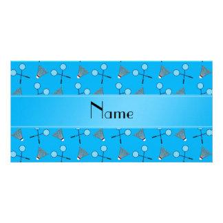 Modelo conocido personalizado del bádminton del az tarjetas fotográficas personalizadas