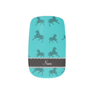 Modelo conocido personalizado del caballo de la stickers para uñas