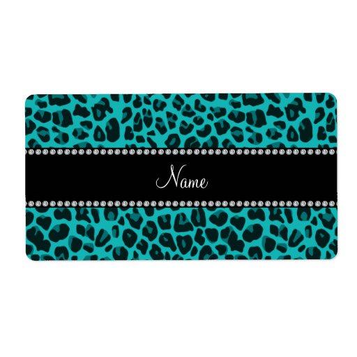 Modelo conocido personalizado del leopardo de la etiquetas de envío