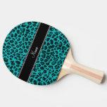 Modelo conocido personalizado del leopardo de la pala de ping pong