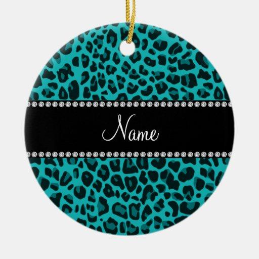 Modelo conocido personalizado del leopardo de la t adornos