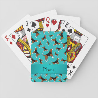 Modelo conocido personalizado del perro del beagle barajas de cartas