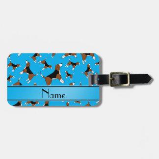 Modelo conocido personalizado del perro del beagle etiquetas para maletas
