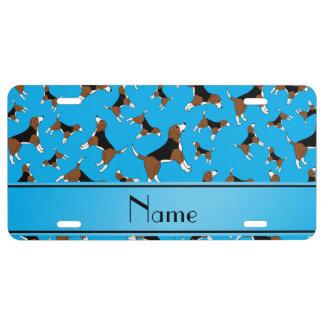 Modelo conocido personalizado del perro del beagle placa de matrícula