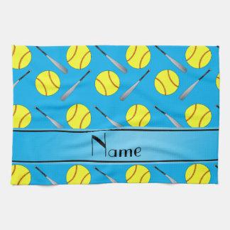 Modelo conocido personalizado del softball del toallas de mano
