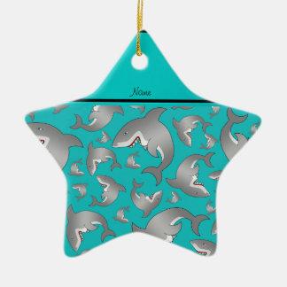 Modelo conocido personalizado del tiburón de la ornamento para arbol de navidad