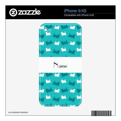 Modelo conocido personalizado del tren de la turqu skins para eliPhone 4S