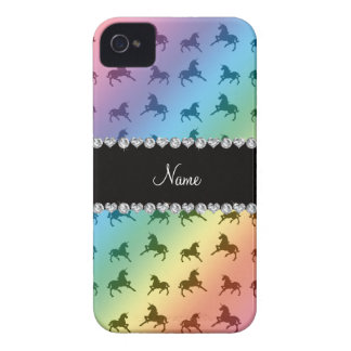 Modelo conocido personalizado del unicornio del ar iPhone 4 protector