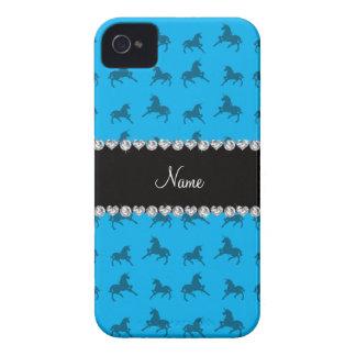 Modelo conocido personalizado del unicornio del az Case-Mate iPhone 4 protectores