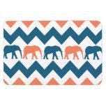 Modelo coralino de la raya azul de los elefantes d iman rectangular
