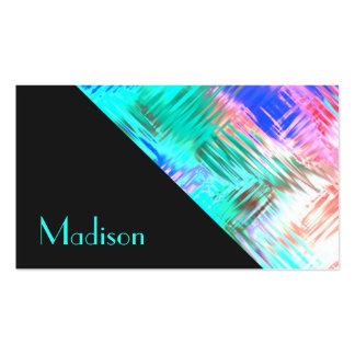 Modelo coralino del vitral del trullo brillante de tarjetas de visita