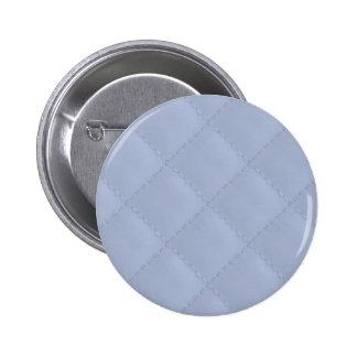 Modelo cosido acolchado cuadrado azul de Alicia Pin Redondo 5 Cm