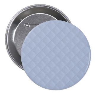 Modelo cosido acolchado cuadrado azul de Alicia Pin Redondo 7 Cm