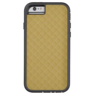 Modelo cosido oro antiguo del edredón funda para  iPhone 6 tough xtreme