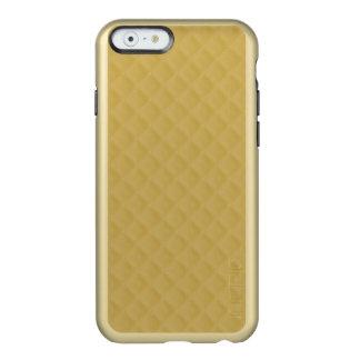 Modelo cosido oro antiguo del edredón funda para iPhone 6 plus incipio feather shine