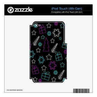 Modelo creativo de Navidad iPod Touch 4G Calcomanías