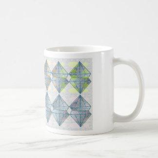 Modelo cristalino azul taza de café
