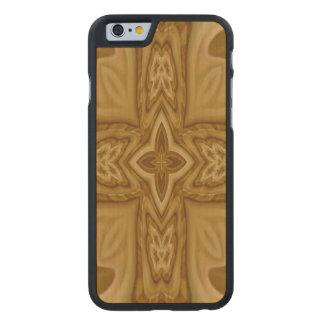Modelo cruzado de madera funda de iPhone 6 carved® de arce
