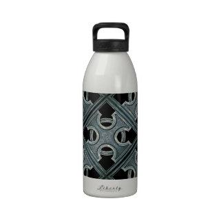 Modelo cruzado de piedra religioso botella de agua reutilizable
