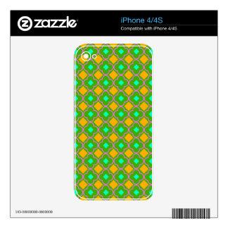 Modelo cruzado inconsútil elegante diseñado iPhone 4S skin