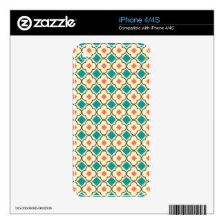 Modelo cruzado inconsútil elegante diseñado skin para el iPhone 4