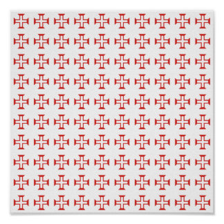 Modelo cruzado rojo de Templar Póster