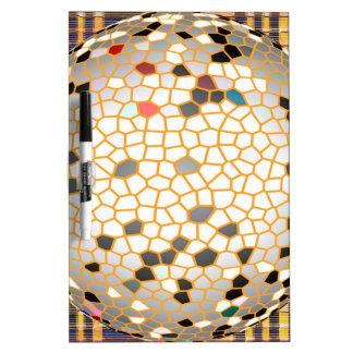 Modelo Crystalized elegante en los regalos Tablero Blanco
