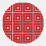 Modelo cuadrado 1 pegatina redonda