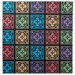 Modelo cuadrado abstracto colorido servilletas imprimidas