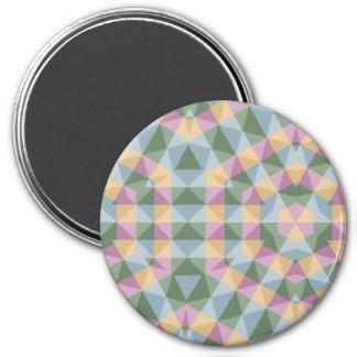 modelo cuadrado abstracto del hexágono del imán redondo 7 cm