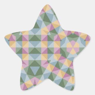 modelo cuadrado abstracto del hexágono del pegatina en forma de estrella