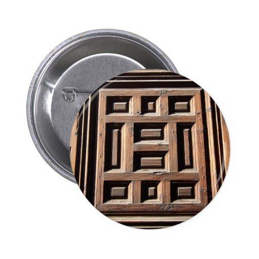 Modelo cuadrado agradable en la puerta pin redondo 5 cm