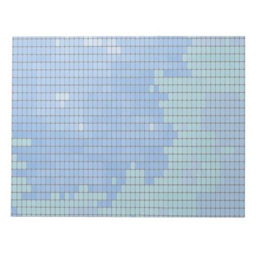 Modelo cuadrado azul abstracto libretas para notas
