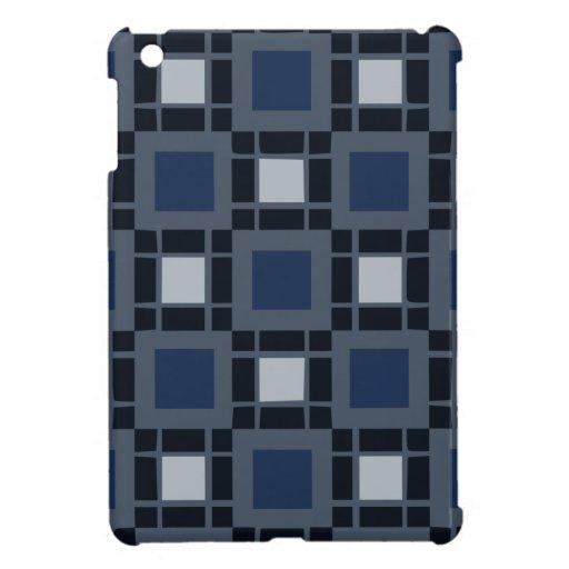 Modelo cuadrado azul iPad mini carcasas