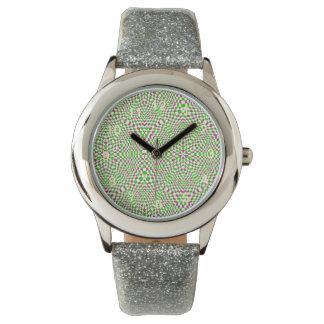 Modelo cuadrado colorido de moda relojes de mano