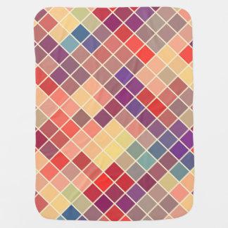 Modelo cuadrado colorido mantitas para bebé