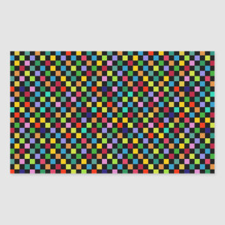 modelo cuadrado colorido pegatina rectangular