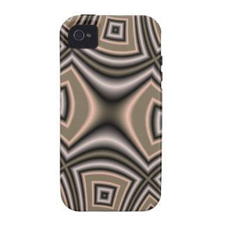 Modelo cuadrado de Brown iPhone 4/4S Funda