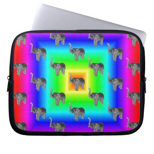 Modelo cuadrado del elefante de la explosión del a fundas portátiles