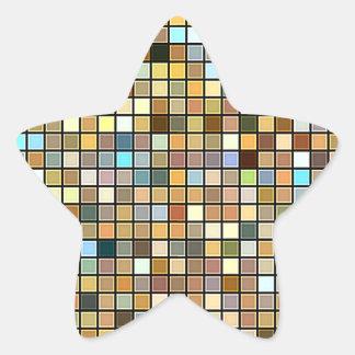 Modelo cuadrado fresco de las tejas de los tonos pegatina en forma de estrella