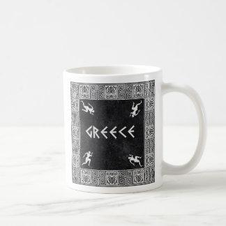 Modelo cuadrado griego taza de café