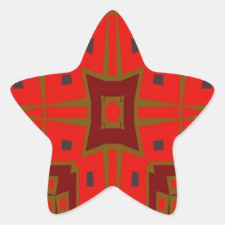 Modelo cuadrado moderno pegatina en forma de estrella