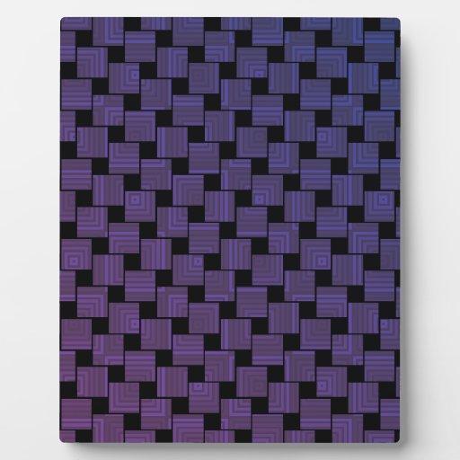Modelo cuadrado púrpura placa