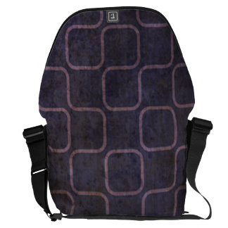 Modelo cuadrado retro púrpura sucio bolsas de mensajería
