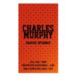 Modelo cuadrado retro - rojo tarjetas de negocios