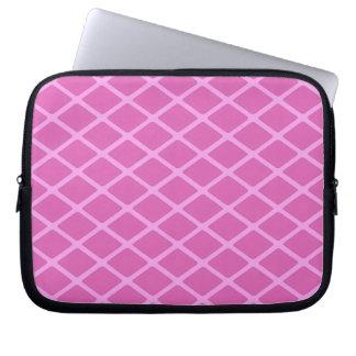 modelo cuadrado rosado del diamante mangas computadora