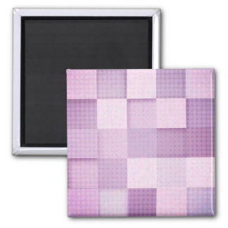 Modelo cuadrado rosado y púrpura imán cuadrado